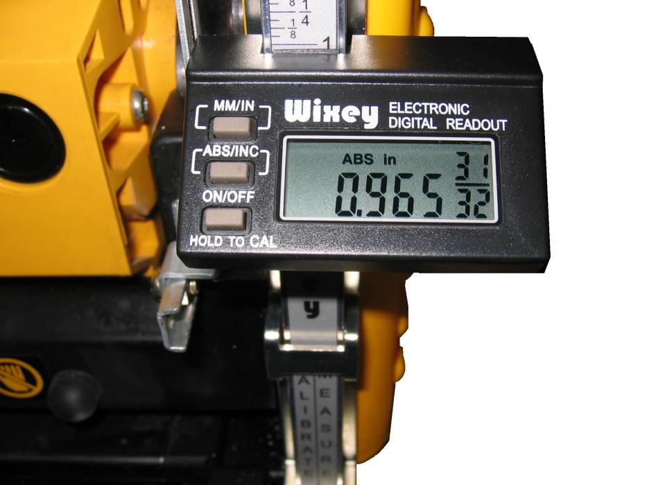WIXEY PORTAGE PLANER DIGITAL READOUT