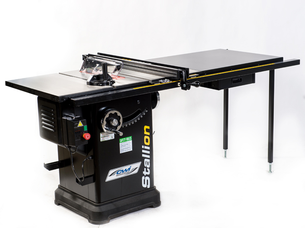 STALLION 10 3 HP CABINET SAW W/52 DELUXE FENCE