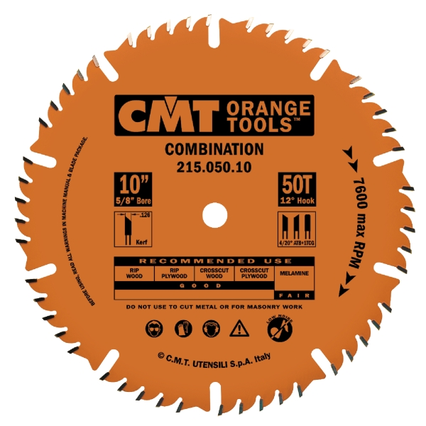 10INCH X 50T COMBINATION BLADE