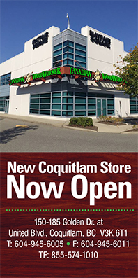 New Coquitlam Store Now Open