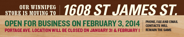 Our Winnipeg Store is moving, new store opening Feb 3