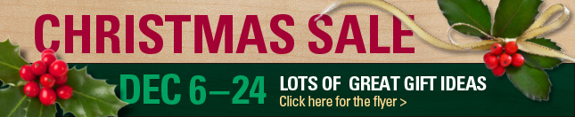 Christmas Sale Dec 6-24
